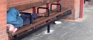 Sleeping on benches